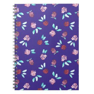 Clover Flowers Spiral Notebook