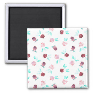 Clover Flowers Square Magnet