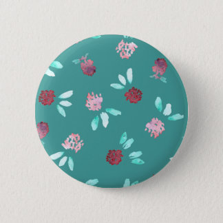 Clover Flowers Standard Round Button