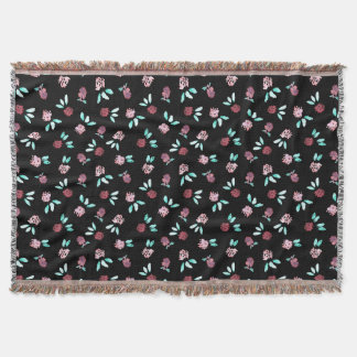 Clover Flowers Throw Blanket