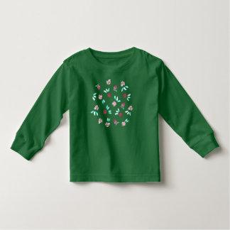 Clover Flowers Toddler Long Sleeve T-Shirt