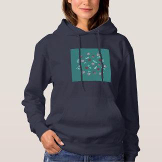 Clover Flowers Women's Hooded Sweatshirt