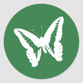 Clover Green Butterfly Envelope Sticker Seal