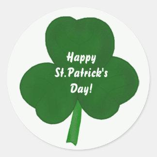 Clover Happy St Patrick sDay Stickers