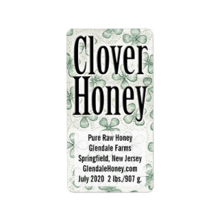 Clover Honey 5-line Personalized Address Label
