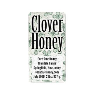 Clover Honey 5-line Personalized Address Label