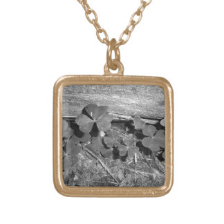 Clover in Arcata Forest Square Pendant Necklace