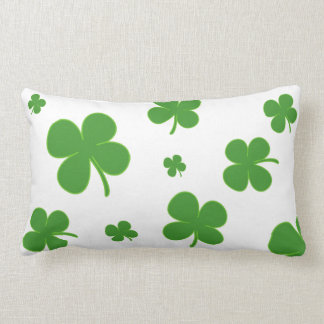 Clover Irish Green Throw Pillow Lucky St. Patrick