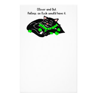 Clover is Lucky write it down ©Daley Personalized Stationery