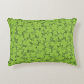 Clover Leaf Illustration Decorative Cushion