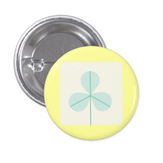 Clover Leaf Three Green Trefoil Luck Irish Cartoon Buttons