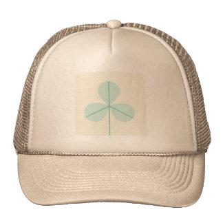 Clover Leaf Three Green Trefoil Luck Irish Cartoon Mesh Hats