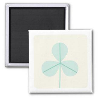 Clover Leaf Three Green Trefoil Luck Irish Cartoon Refrigerator Magnet
