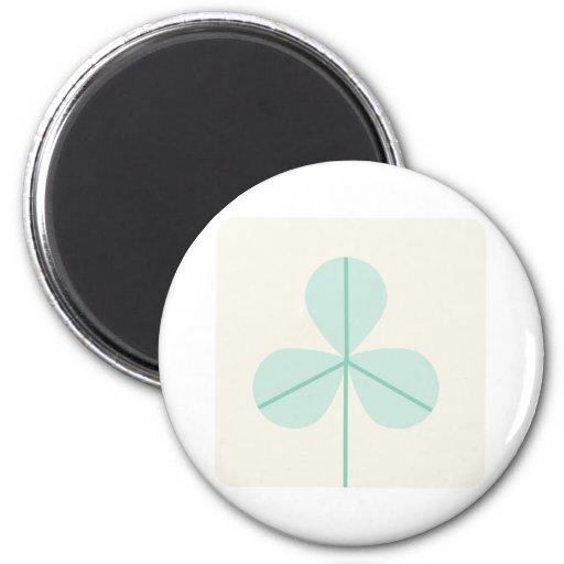 Clover Leaf Three Green Trefoil Luck Irish Cartoon Fridge Magnets