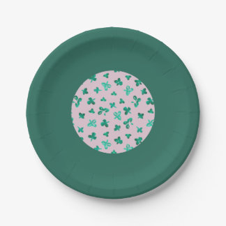 Clover Leaves 7'' Paper Plate