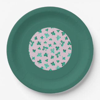Clover Leaves 9'' Paper Plate