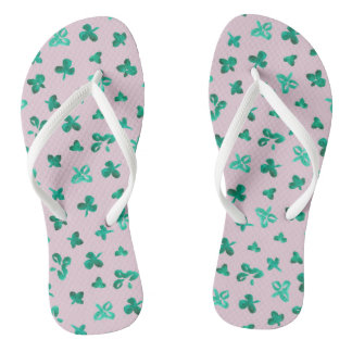 Clover Leaves Adult Slim Straps Flip Flops Thongs