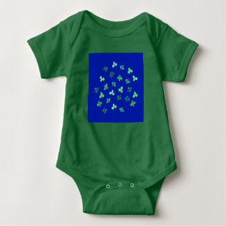 Clover Leaves Baby Jersey Bodysuit