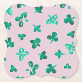 Clover Leaves Bracket Paper Coaster
