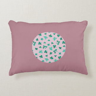 Clover Leaves Brushed Polyester Accent Pillow
