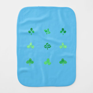 Clover Leaves Burp Cloth