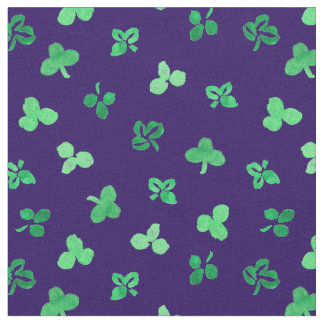 Clover Leaves Combed Cotton Fabric