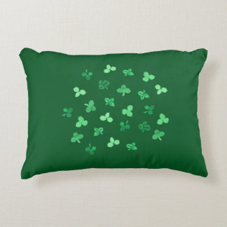 Clover Leaves Cotton Accent Pillow