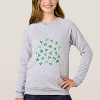 Clover Leaves Girls' Raglan Sweatshirt