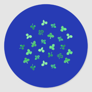 Clover Leaves Large Glossy Round Sticker