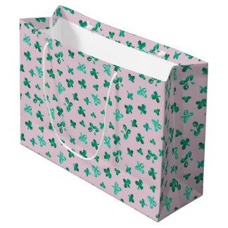Clover Leaves Large Matte Gift Bag