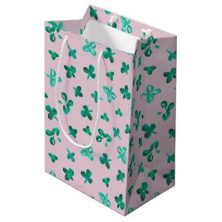 Clover Leaves Medium Matte Gift Bag
