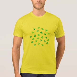 Clover Leaves Men's Poly-Cotton Blend T-Shirt