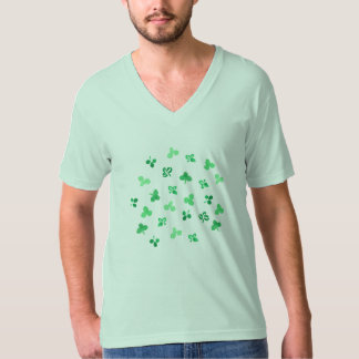 Clover Leaves Men's V-Neck T-Shirt