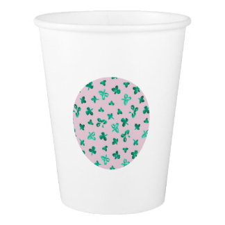 Clover Leaves Paper Cup