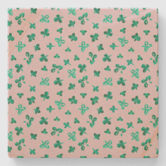 Clover Leaves Sandstone Coaster