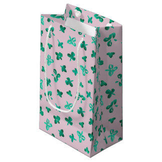 Clover Leaves Small Glossy Gift Bag