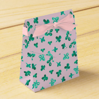 Clover Leaves Tent Favor Box