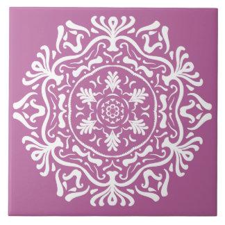 Clover Mandala Ceramic Tile