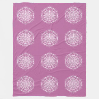 Clover Mandala Fleece Blanket