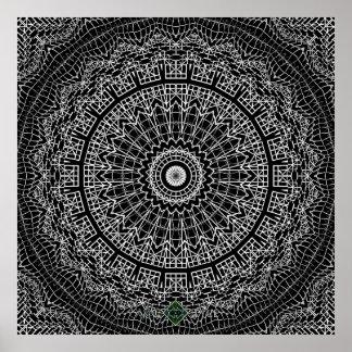 Clover Mandala Poster