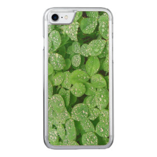 Clover Meadow Leaves Spring Rain Dew Green Leaf Carved iPhone 8/7 Case