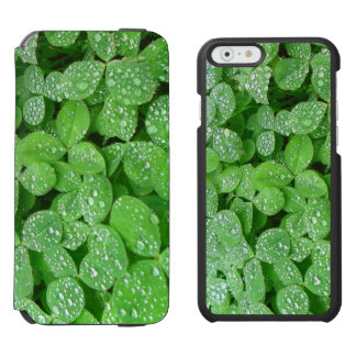 Clover Meadow Leaves Spring Rain Dew Green Leaf Incipio Watson™ iPhone 6 Wallet Case