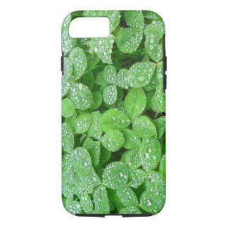 Clover Meadow Leaves Spring Rain Dew Green Leaf iPhone 7 Case