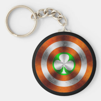 Clover of Ireland Basic Round Button Key Ring