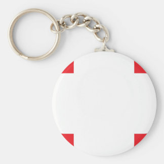Clover Pattern 1 Red Key Chain