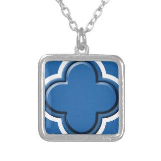 Clover Pattern 2 Dazzling Blue Pendant