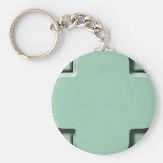 Clover Pattern 2 Hemlock Keychain