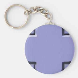 Clover Pattern 2 Violet Tulip Key Chains
