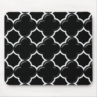 Clover pattern 2 white mouse pad