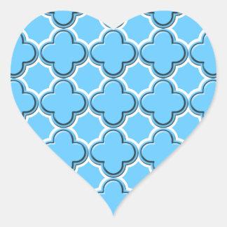Clover pattern 2 white heart sticker